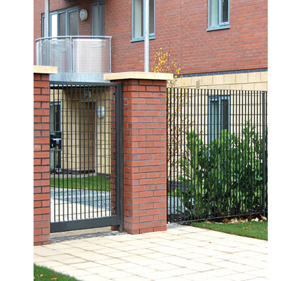 Sterope Colour® modular grating fence, Langley, Manchester