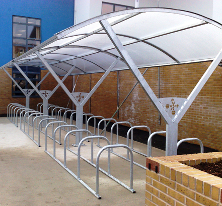 Streetproducts installed cycle shelters at Tideway School