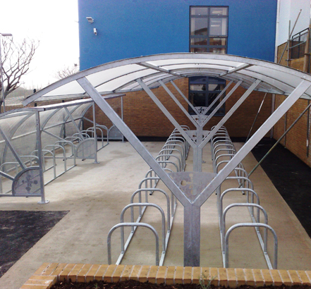 Curve and Street cycle shelters