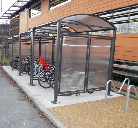 Streetproducts were contracted to install a cycle shelter