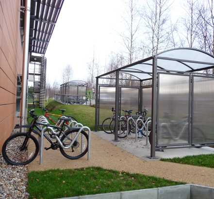 Route cycle shelter
