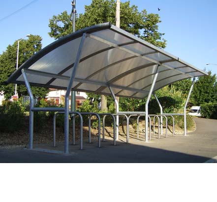 Gradient cycle shelter, Waitrose, Reading