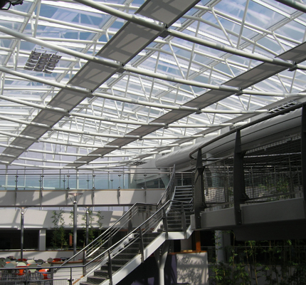 TUI headquarters, Luton, blind partially retracted