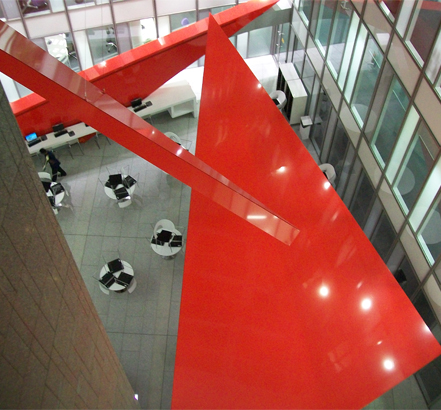 Red floating triangles in the HSBC café area