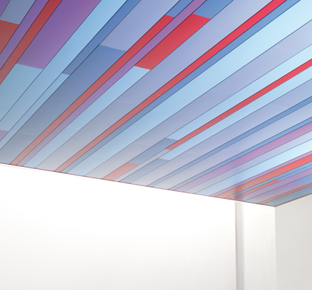 Hunter Douglas has released three new colour designs to expand its Luxalon<sup>®</sup> Linear ceiling offerings