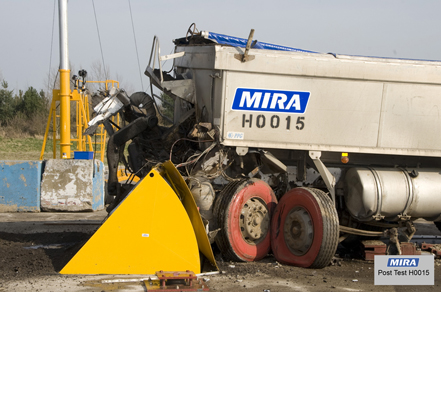 The Heald HCR4M1200RB continued normal operation following testing against a 30 tonne truck