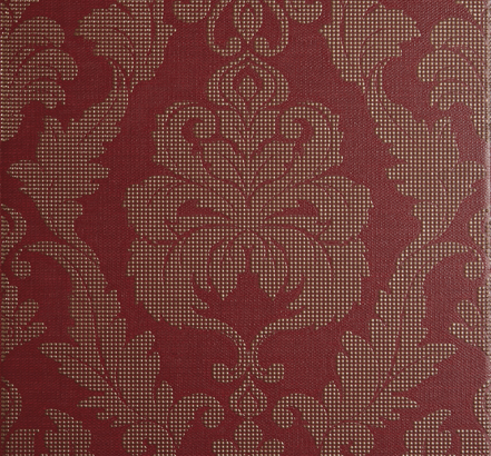 Chambray Brocade feature wall tiles in Red