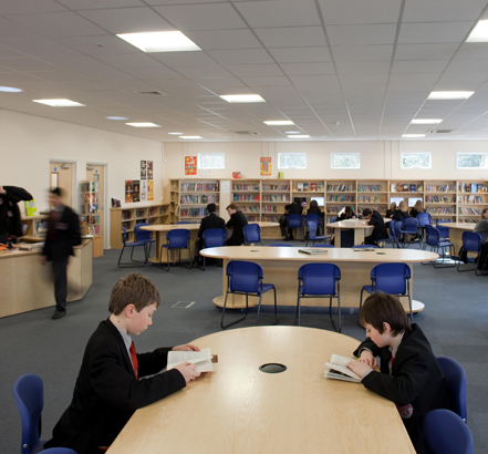 Wernick Buildings supplied the building system for Langley School's new library