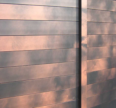 Architectural solution for ventilated facades using aluminium panels