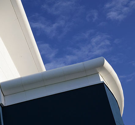 Fabricated curved fascias