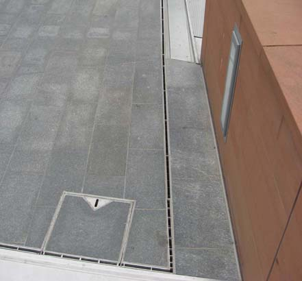 ACO's drainage system is a safe and discrete solution that does not spoil the appearance of the walkways
