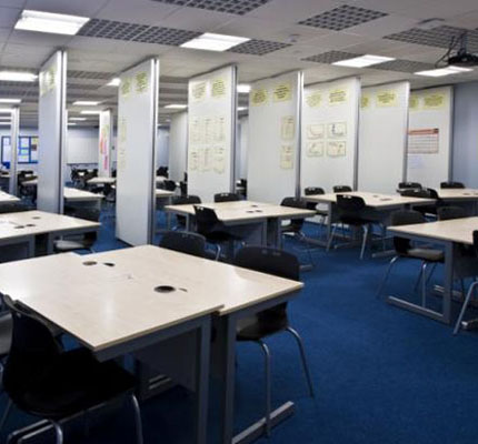 NW100 acoustic movable walls, installed at Pendle Vale College in Lancashire