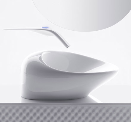 Freedom bidet with one-touch temperature setting control