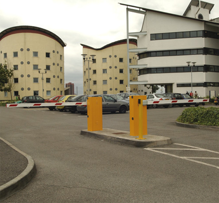 Atlas modernised all the car park access barriers on UEL Docklands campus with new electronic controllers
