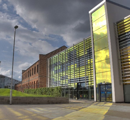 Main building at Derby College
