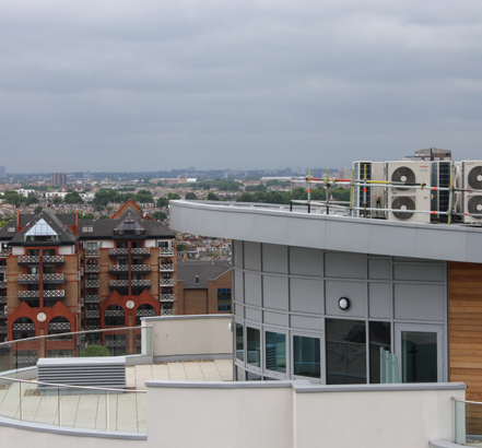 The Bridges Wharf development in Battersea makes use of aluminium wall copings, fascias and soffits from GutterCrest
