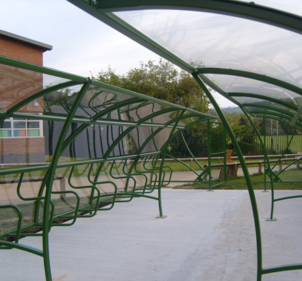 The Mayfair cycle compound was supplied galvanised and powder coated