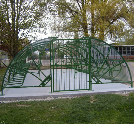 The cycle compound was fitted with security gates at both ends