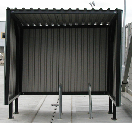 Bailey Streetscene installed 27 individual cycle shelters all of varying sizes