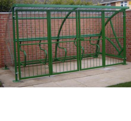 Double cantilever gates were fitted, allowing full access to the shelters