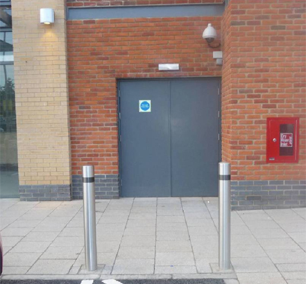 Streetdoor|uk provided steel doors for the back of retail areas and the leisure centre