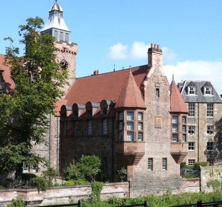 Well Court is a Category A listed building located next to the Water of Leith in Dean Village, Edinburgh