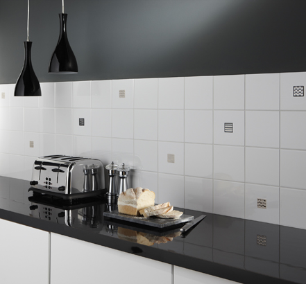 Flat White tiles with Hudson inserts