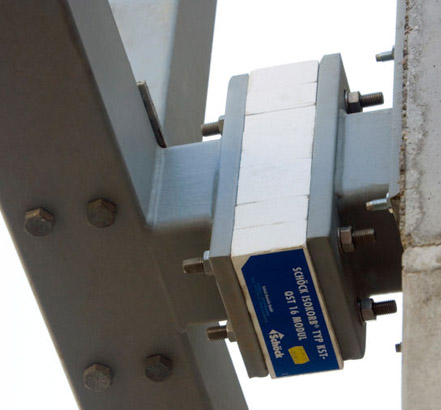 Schöck Isokorb<sup>®</sup> Type KST steel-to-steel connector, in-situ at Barras Bridge