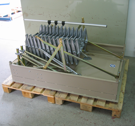 Steel hatchbox for PLL stairways