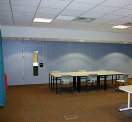 Movable walls from Accordial Wall Systems, installed in multi-use areas for the Knowsley Schools BSF project