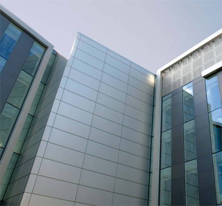 Optima FC rainscreen cladding system was used