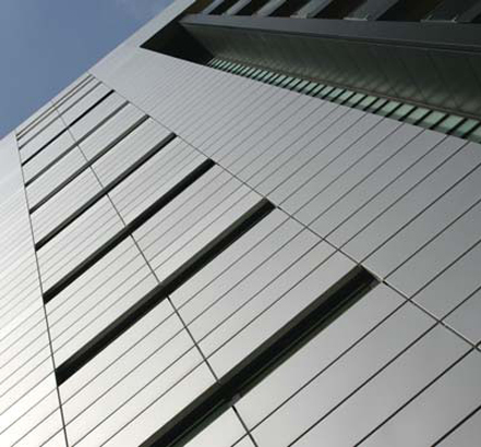 Optima TFC system was specified in pre-coated aluminium