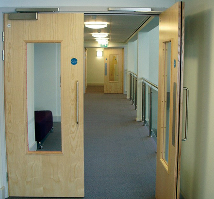 Interior doors are secured with networked locks compatible with the centre's staff and patient ID cards