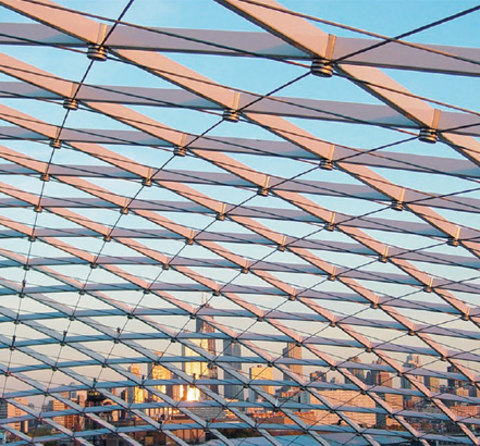 Grid shell skylight structure