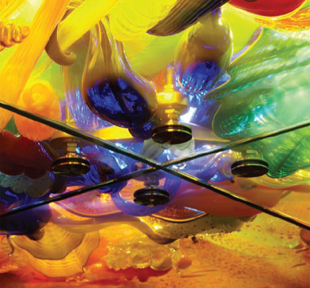 """Fireworks of Glass"" is the largest permanent sculpture of blown glass by renowned glass artist Dale Chihuly"
