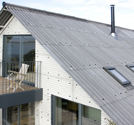 Fibre-cement profiled sheeting is used in agricultural, commercial, leisure and residential sectors