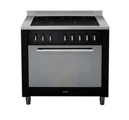 Indesit range cooker, Black