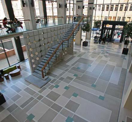 Mapei Ultratop in a commercial lobby