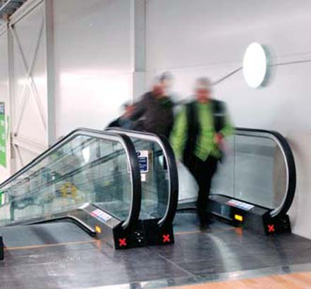 ASDA in Andover makes use of Stannah's ST moving walkways