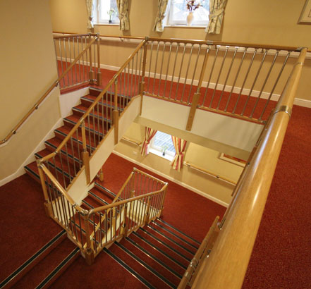 FUSION<sup>®</sup> Commercial stair balustrade was installed on the main staircase to provide a safe and stylish barrier