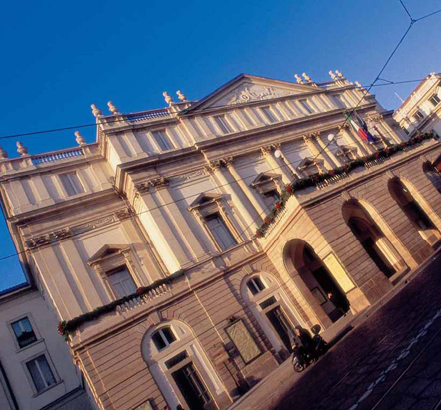 Eighteenth and nineteenth century architecture at La Scala Theatre in Milan