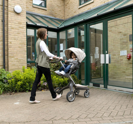 The Midilift XLplus makes access to the first floor easier for patients with pushchairs