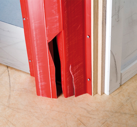 Frequent replacement of damaged hinge covers incur significant whole life costs
