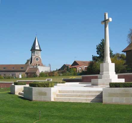 Commonwealth war memorial, Fromelles, northern France