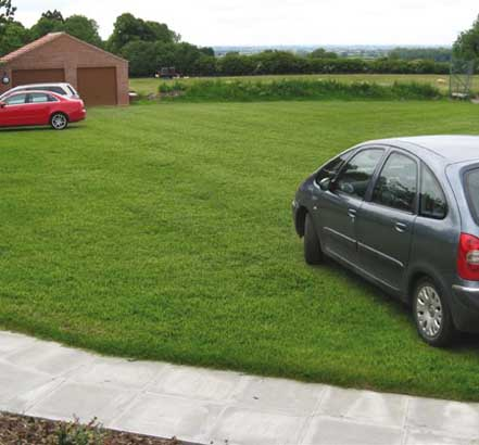 New visitor car park at Bishop Wilton community centre
