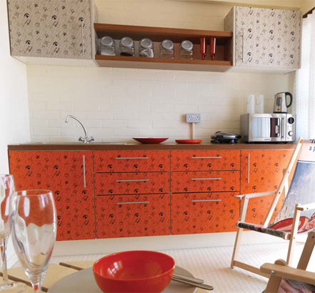 Formica<sup>®</sup> Bespoke was used on the cupboard doors in the beach-hut kitchens