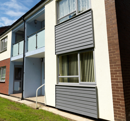Cedral Weatherboard offers a lightweight, cost-effective over-clad solution