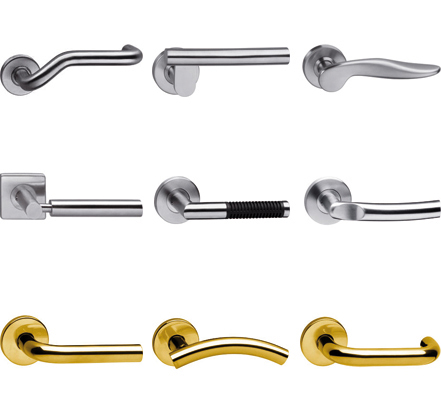 A selection of Intersteel, Ital, Interbrass lever handle designs