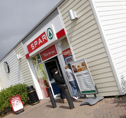 Cedral Weatherboard was specified in Cream White to accentuate Spar's colour scheme