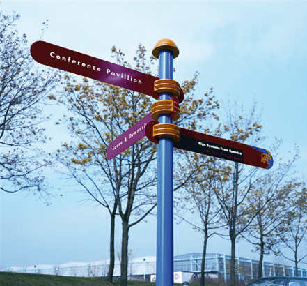 "C-FIX system, a refreshing modern approach to ""fingerpost"" signs"